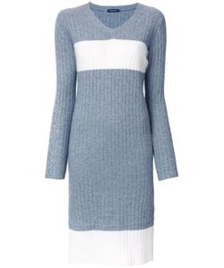 Loveless | Knitted V-Neck Dress 36 Angora/Rayon/Wool/Nylon