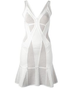 Hervé Léger   Perforated Flared Dress Xs
