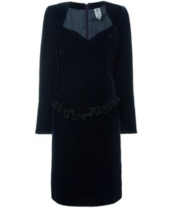 Emanuel Ungaro Vintage | Ruffled Trim Velvet Dress