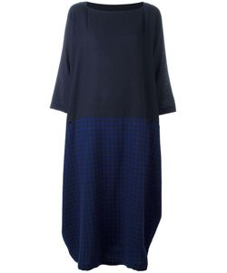 Daniela Gregis | Checked Asymmetric Dress Cashmere