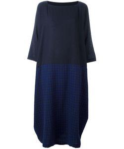 Daniela Gregis | Checked Asymmetric Dress Cashmere