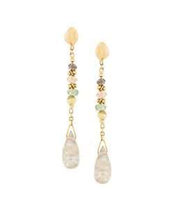 Natasha Collis | Diamond Sapphire Drop Earrings