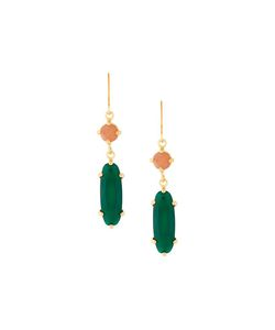 Wouters & Hendrix | Sunstone And Agate Earrings