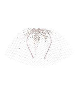 Gigi Burris Millinery | Embellished Tulle Headband Medium