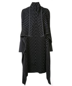 Gareth Pugh   Chevron Draped Cardi-Coat Small