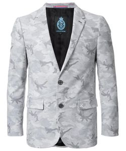 Guild Prime | Camouflage Single Breasted Blazer 1 Cotton