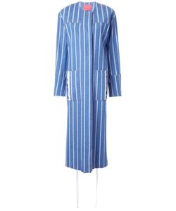 Manning Cartell | Open Back Striped Coat 8 Cotton