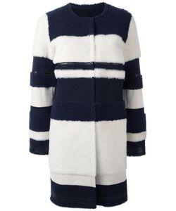 Yves Salomon   Collarless Mid Coat 38 Lamb Fur/Lamb