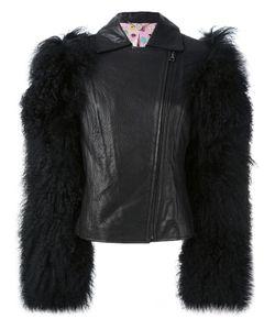 Charlotte Simone | Shearling Sleeve Biker Jacket S/M Leather/Lamb