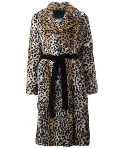 Meteo By Yves Salomon | Leopard Print Mid Coat 38