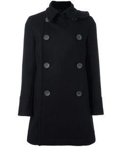 The Reracs | Double-Breasted Mid Coat 38 Cupro/Wool/Silk