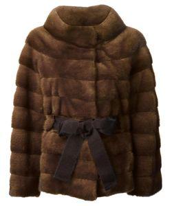 Liska   Belted Coat Large Mink Fur