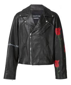 Enfants Riches Deprimes   Roses Print Biker Jacket Medium