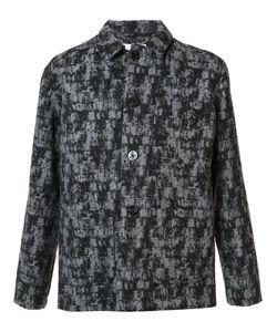 Julien David | Patterned Shirt Jacket Large