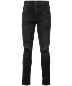 En Noir | Distressed Skinny Jeans 28 Cotton/Spandex/Elastane