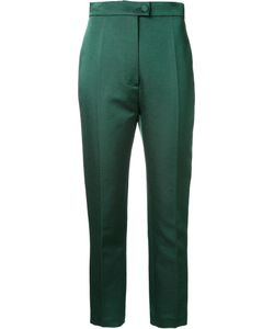 Martin Grant | Tailored Cropped Trousers 40 Silk/Cotton