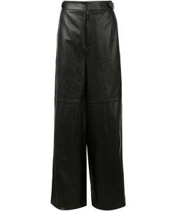 Juun.J | Wide Leg Leather Trousers