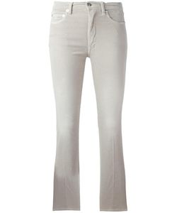 +People | Cropped Flared Trousers 30 Cotton/Spandex/Elastane