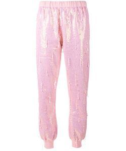 Ashish   Bead Embellished Sequin Track Pants Large