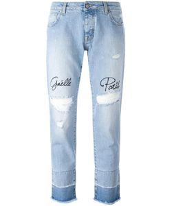 Gaelle Bonheur | Distressed Embroidered Jeans