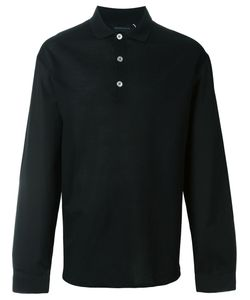 Kris Van Assche | Contrast Button Long Sleeve Polo Shirt