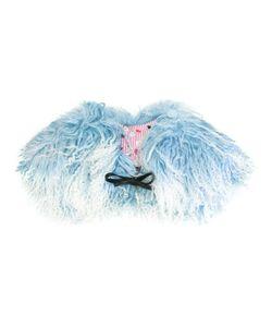 Charlotte Simone | Muffin Tops Shearling Collar Silk/Cotton/Lamb Fur/Leather