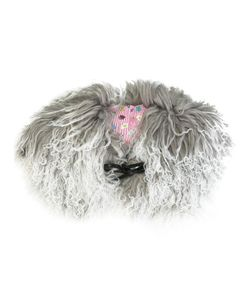 Charlotte Simone | Muffin Tops Shearling Collar Lamb Fur/Silk/Cotton