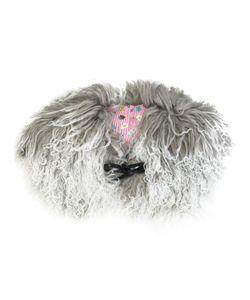 Charlotte Simone | Muffin Tops Shearling Collar Lamb Fur/Silk/Cotton