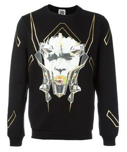 Les Hommes Urban | All Over Print Sweatshirt Large