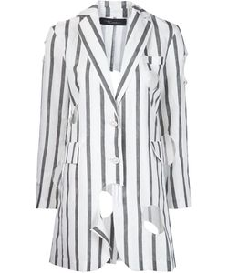 Area Di Barbara Bologna | Striped Long Holes Blazer Medium