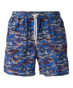 Capricode   Camouflage Print Swim Shorts