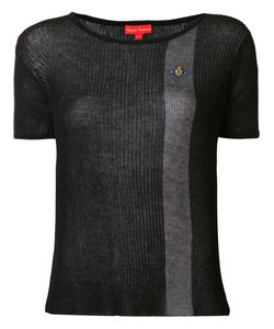 Vivienne Westwood Red Label | Semi-Sheer Contrast Stripe T-Shirt Small