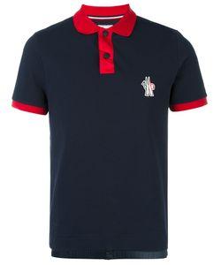 Moncler Grenoble | Contrast Collar Polo Shirt Large Cotton/Polyamide