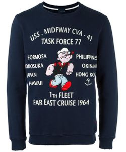 +People | Popeye Print Sweatshirt Xl Cotton