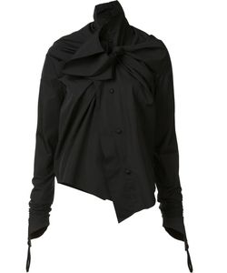 Aganovich | Twisted Bow Detail Shirt 36 Cotton