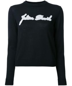 Julien David | Intarsia Detail Jumper Small Wool