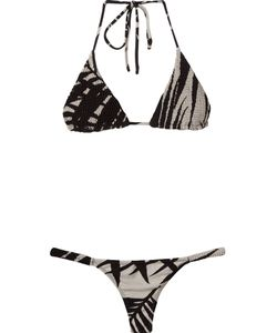Osklen Praia | Abstract Print Triangle Bikini Set