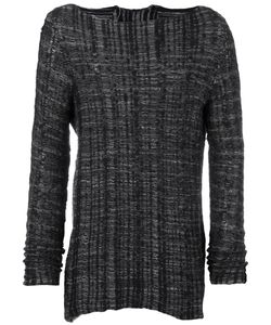 Cedric Jacquemyn | Striped Boat Neck Sweatshirt Medium Cotton/Linen/Flax