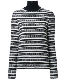 Martin Grant | Striped Turtleneck Jumper 40 Cotton/Polyamide/Polyester/Spandex/Elastane