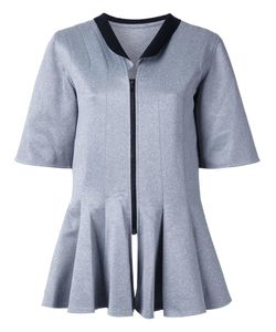 Robert Wun | Peplum Front Blouse 10 Polyester