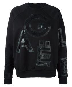 Gaelle Bonheur | Lace Letter Insert Sweatshirt 1 Cotton