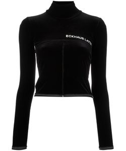 Eckhaus Latta | Cropped Roll Neck Top Large Polyester