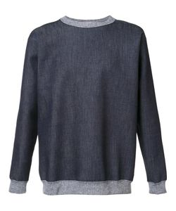 Julien David | Denim Effect Sweatshirt Medium Cotton/Polyurethane
