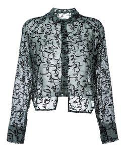 Eckhaus Latta | Embroidered Face Shirt Medium Rayon/Nylon