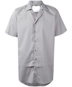 Matthew Miller | Layered Short Sleeve Shirt Medium Cotton/Spandex/Elastane