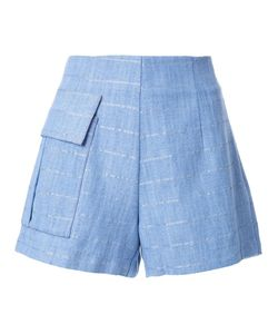 Manning Cartell | Patch Pocket Striped Shorts 8 Cotton