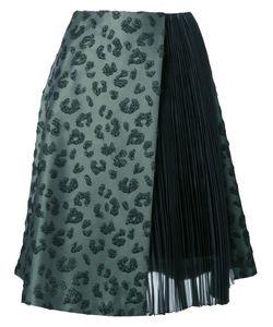Taro Horiuchi | Jacquard Pleated Panels Skirt Xs Polyester