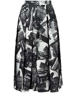 Veronique Leroy | Printed Skirt 36 Wool