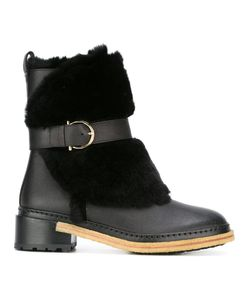 Salvatore Ferragamo | Gancio Buckle Boots 9 Calf Leather/Rabbit