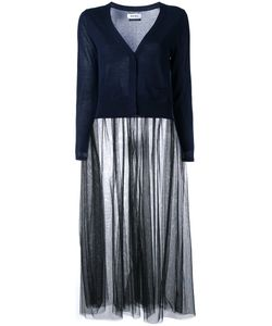 Muveil | Sheer Elongated Detailing Cardigan Size